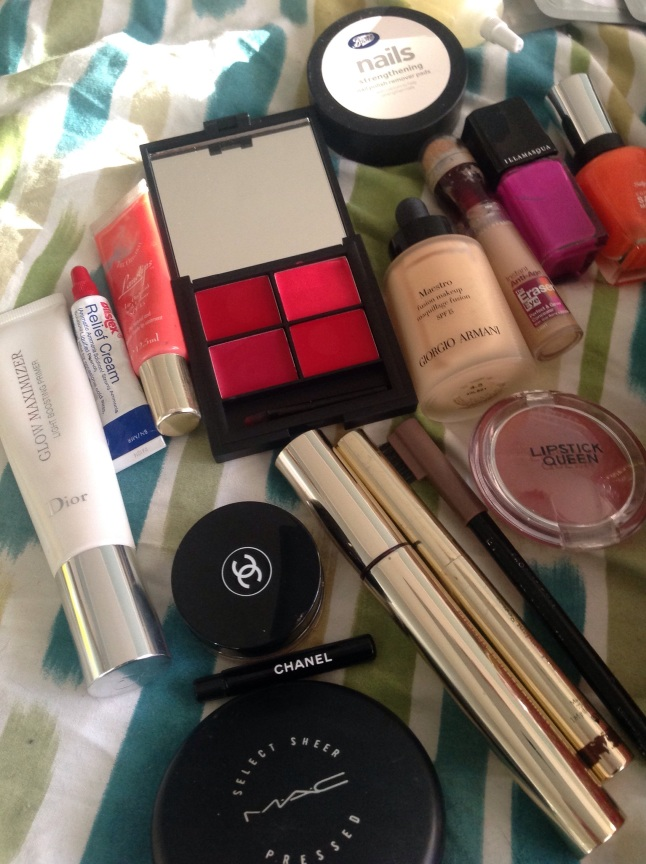 The make up section